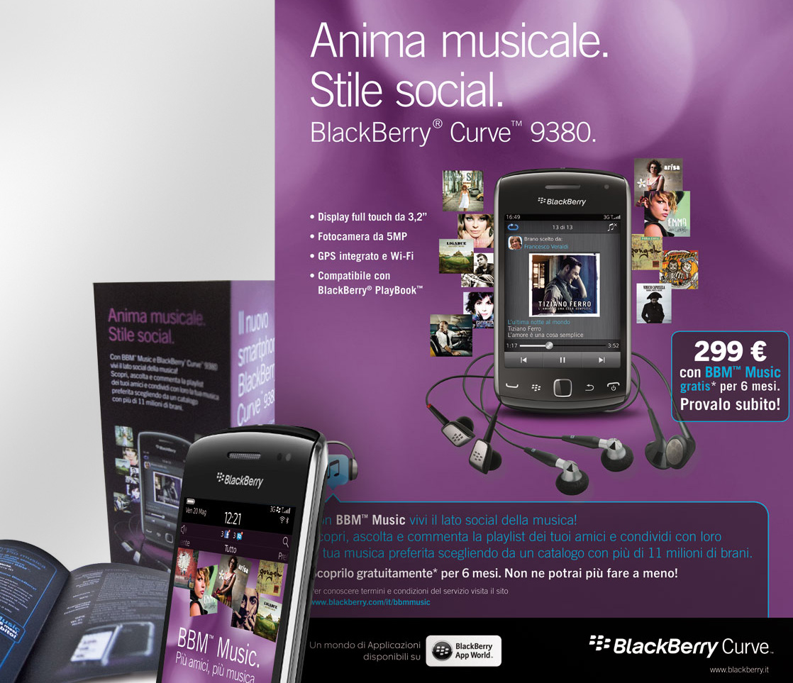 Blackberry Curve, per Gruppo Korus